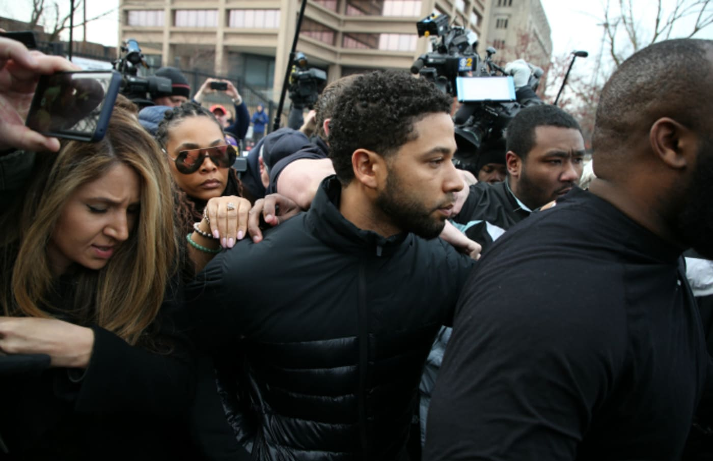Jussie Smollett leaves the Cook County Jail