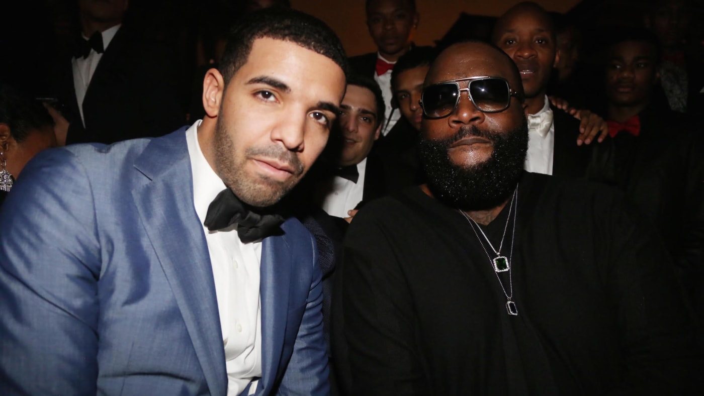 Drake and Rick Ross attend Sean Diddy Combs Ciroc The New Years Eve Party