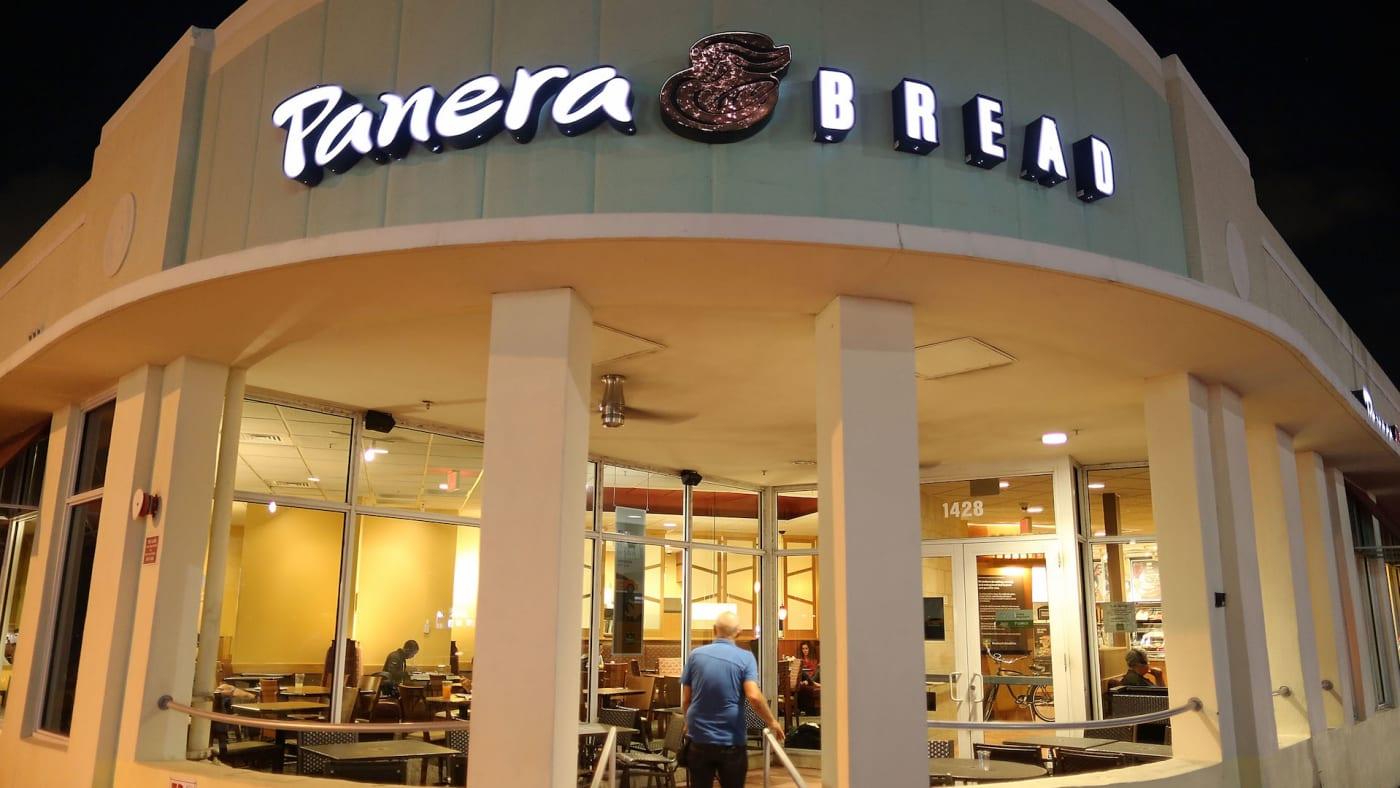 A Panera Bread restaurant.