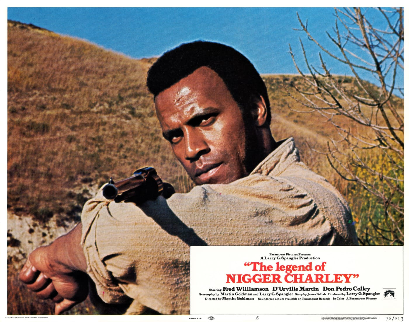 This is the lobby card from The Legend of Nigger Charley.