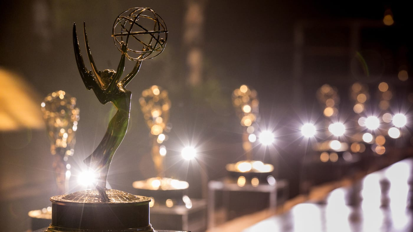 General view of Emmy Award at the 68th Emmy Awards Press Preview Day.