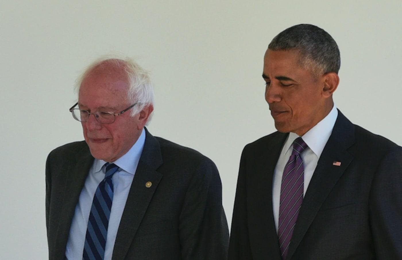 Bernie Sanders and Barack Obama