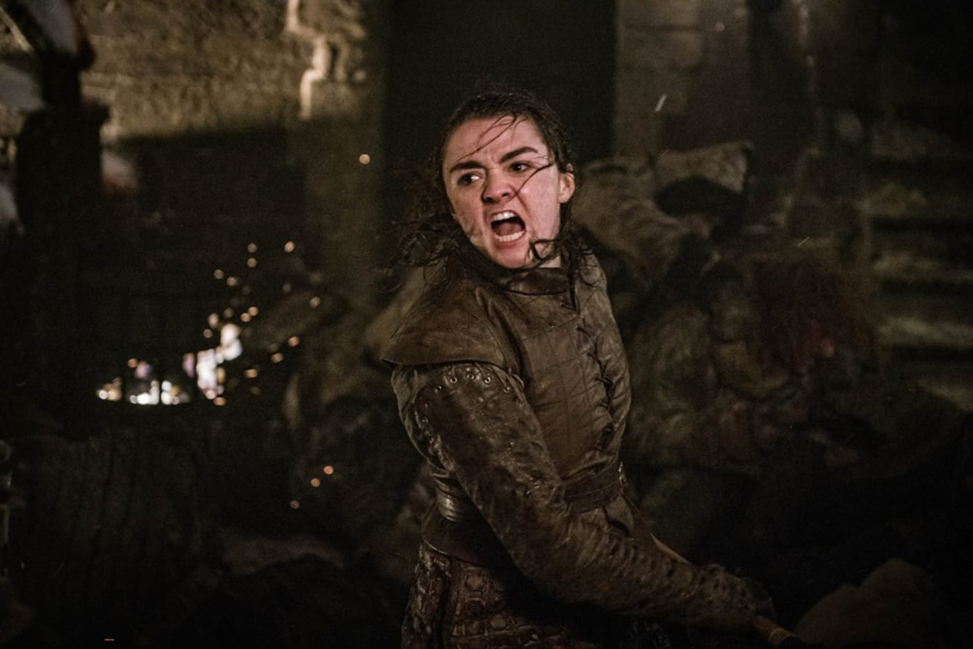 Maisie Williams in production still from HBO's Game Of Thrones