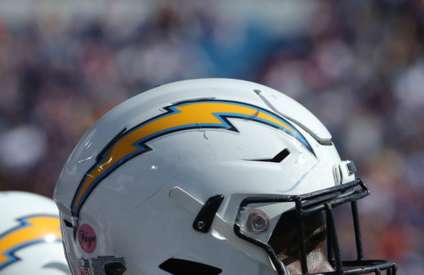 A detailed view of the Chargers logo