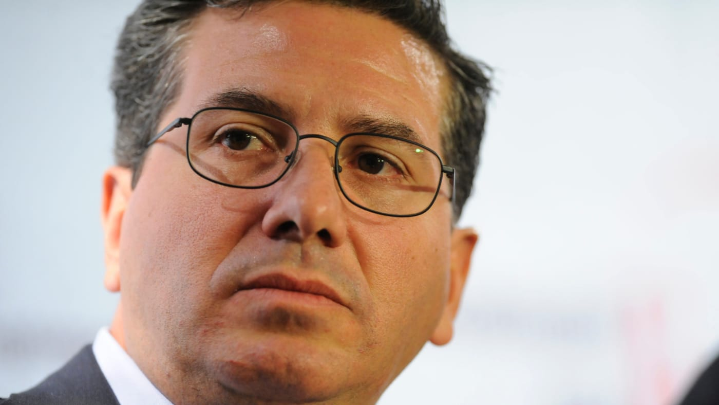 Dan Snyder takes part in a Washington Post Live discussion 'Scoring Big: The Business of Sports.'