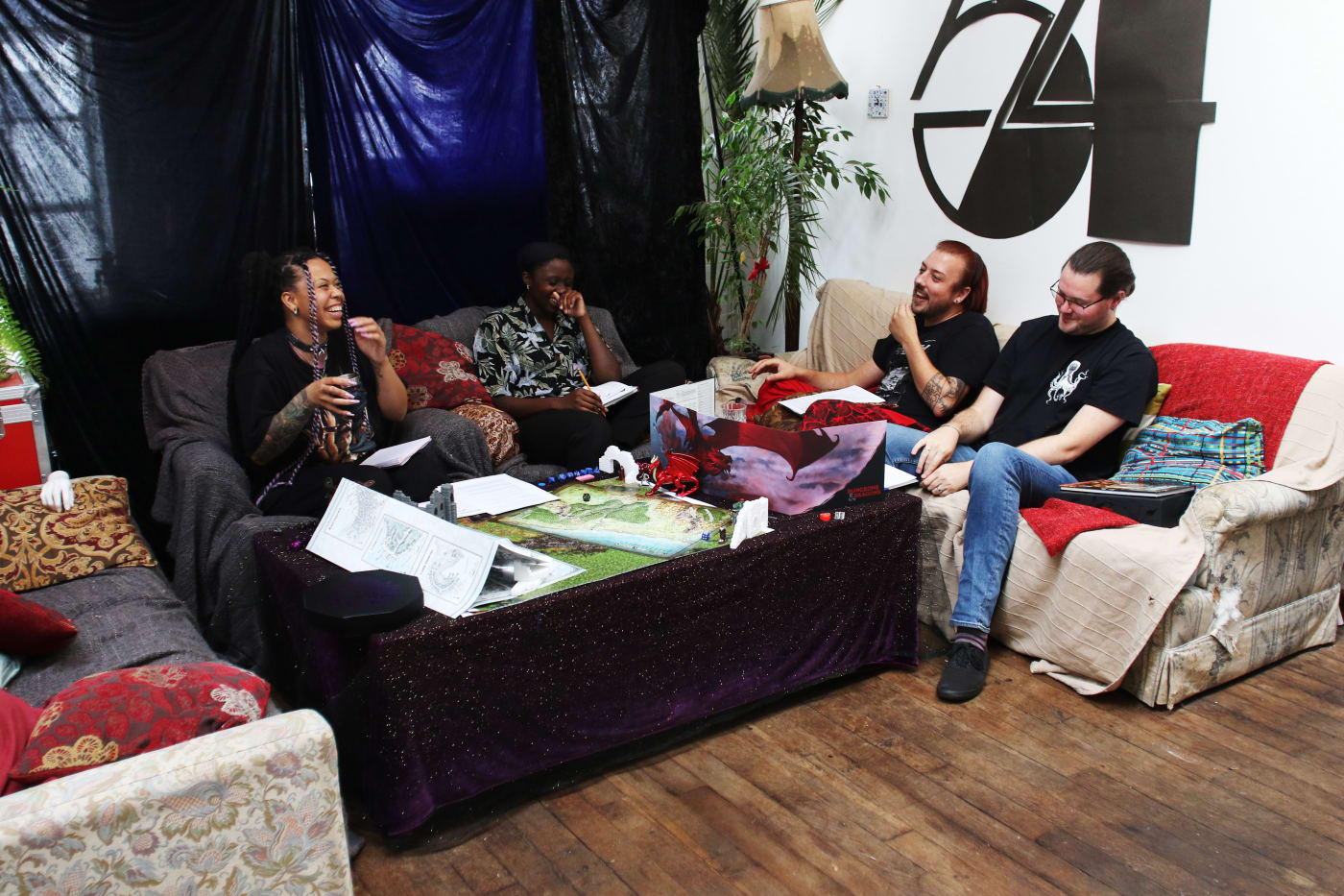 Group of players playing Dungeons & Dragons