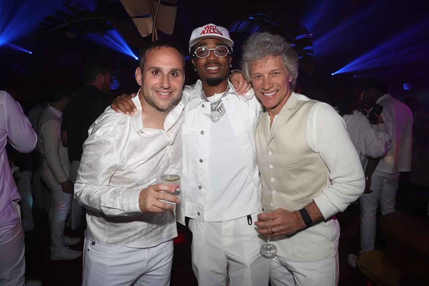 Michael Rubin, Quavo and Jon Bon Jovi