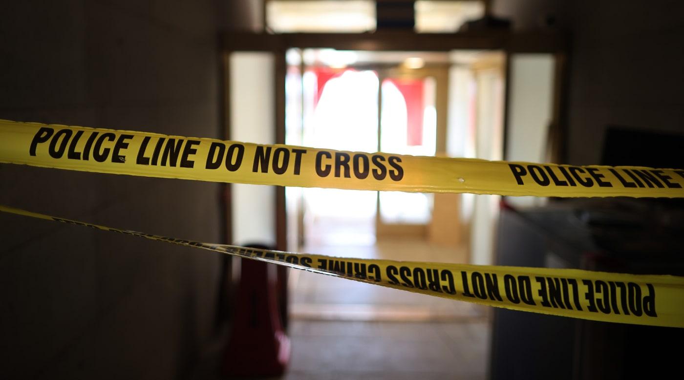 Crime scene police tape do not cross