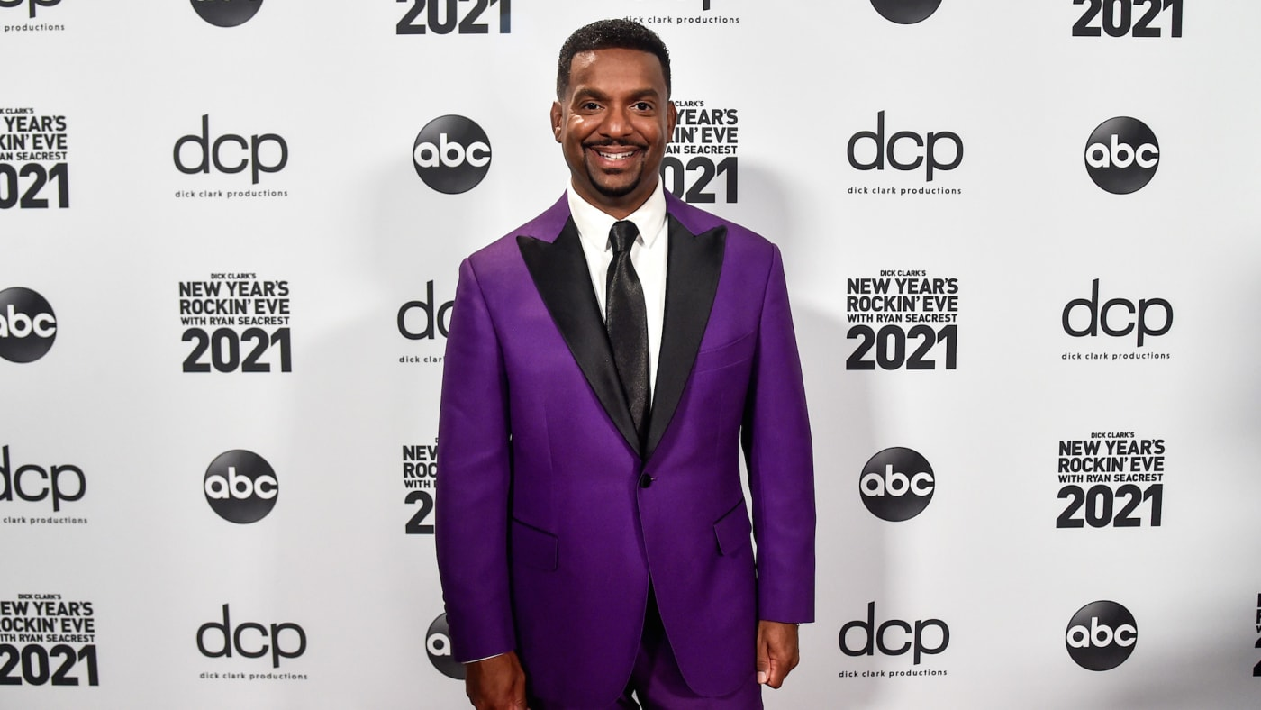 Alfonso Ribeiro arrives at Dick Clark's New Year's Rockin' Eve with Ryan Seacrest