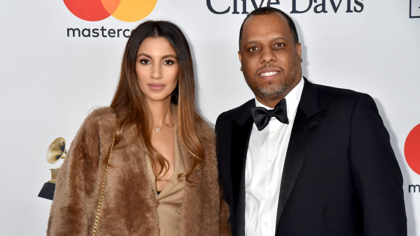 Isabelle Wilson and No I.D. attend the Clive Davis and Recording Academy Pre-GRAMMY Gala and GRAMMY Salute to Industry Icons Honoring Jay-Z.
