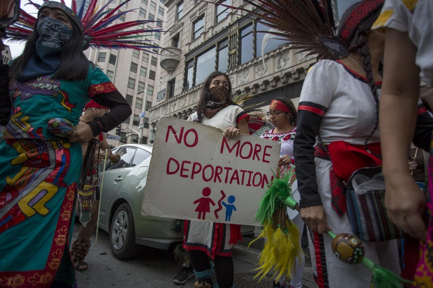 no more deportation protest sign