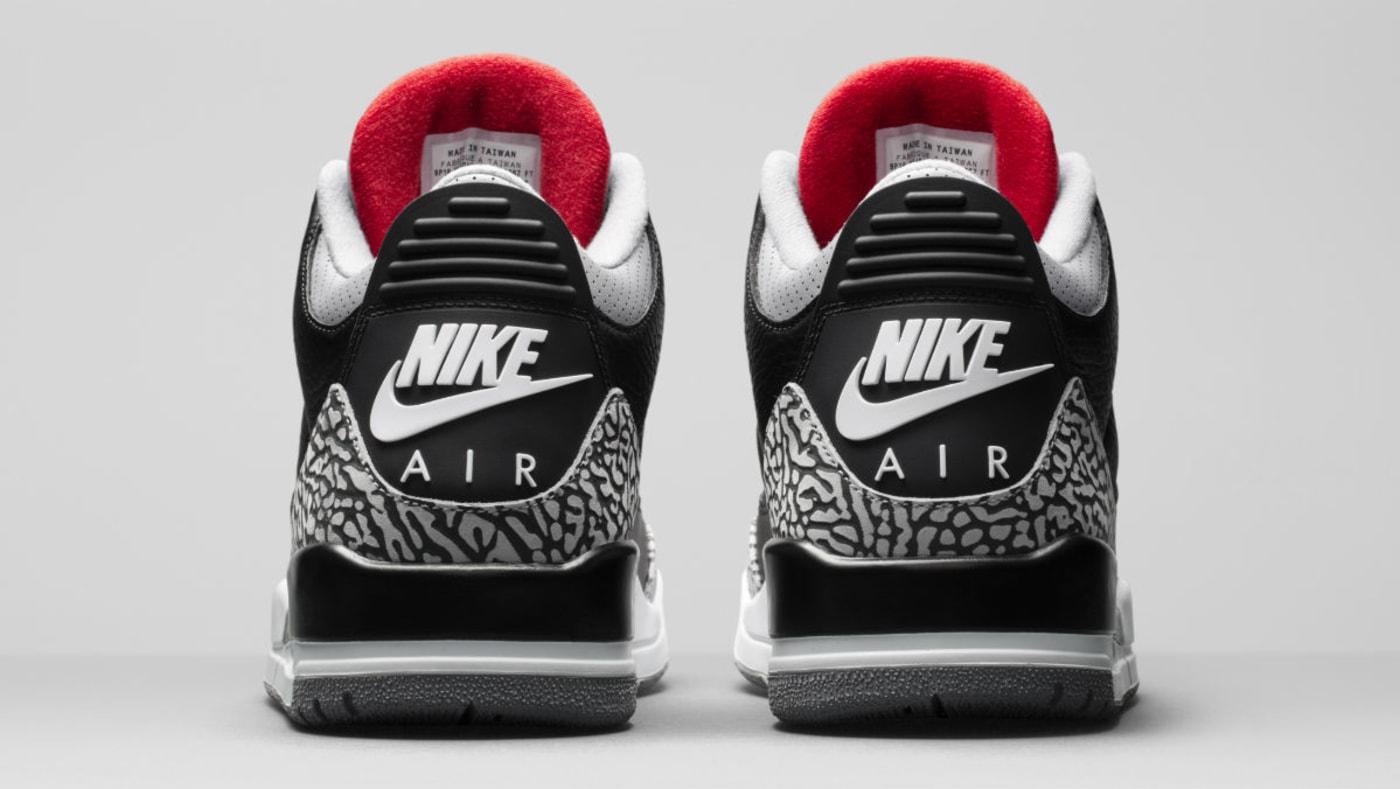 Air Jordan 3 III Black Cement Release Date 854262 001 Heel