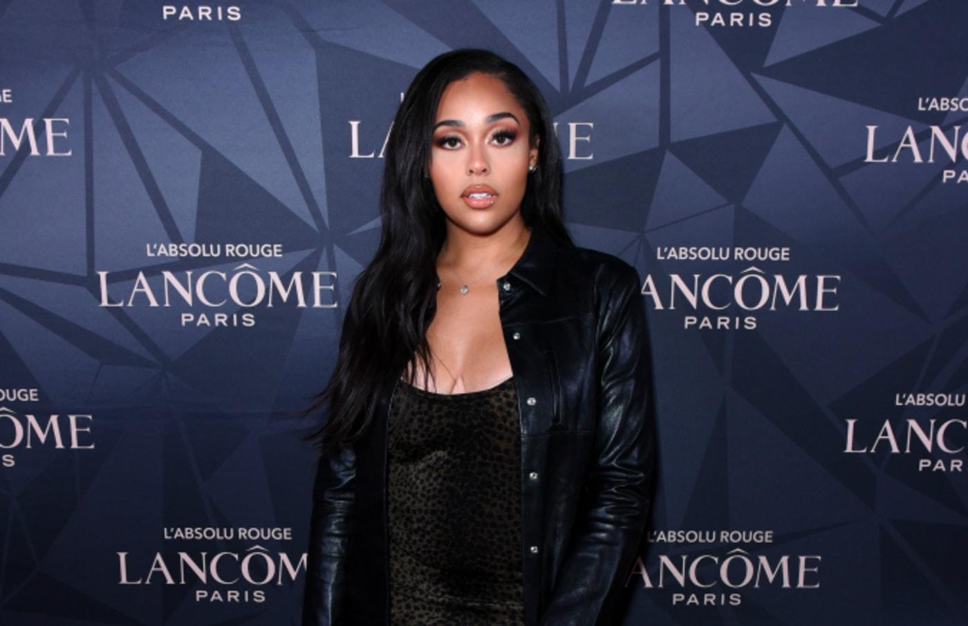 Jordyn Woods attends Lancôme x Vogue L'Absolu Ruby Holiday Event