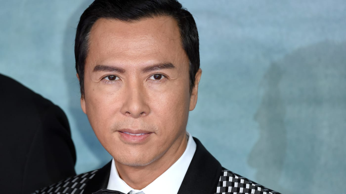 """Donnie Yen attends the launch event for """"Rogue One: A Star Wars Story."""""""