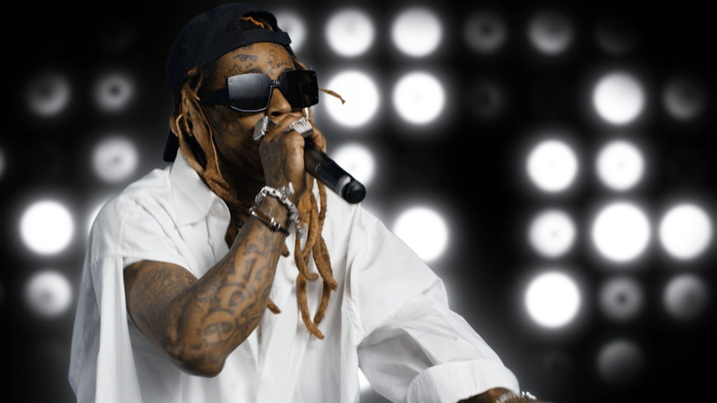 In this screengrab, Lil Wayne performs during the 2020 BET Awards.