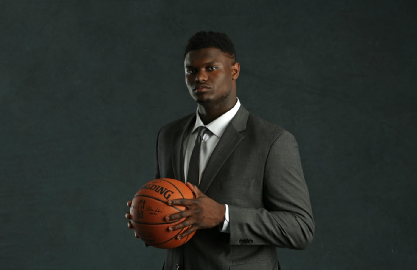 NBA Draft Prospect, Zion Williamson poses for a portrait at the 2019 NBA Draft Lottery