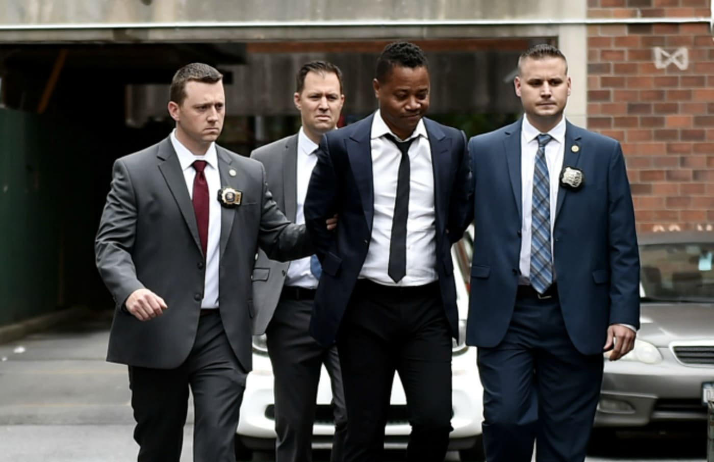 Actor Cuba Gooding Jr. is seen after turning himself in to the New York police