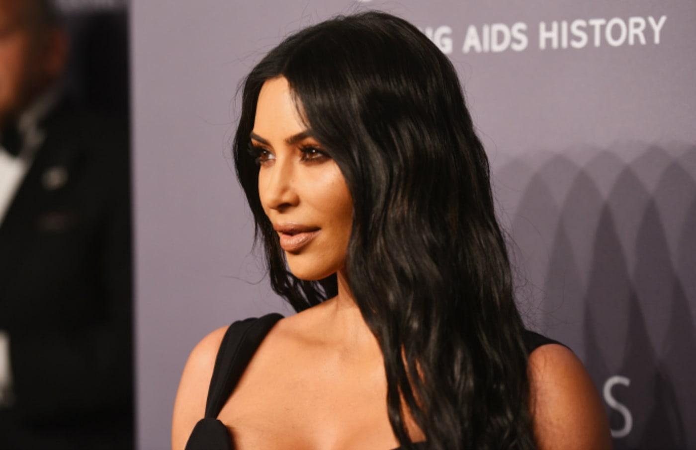 Kim Kardashian West attends the amfAR New York Gala 2019