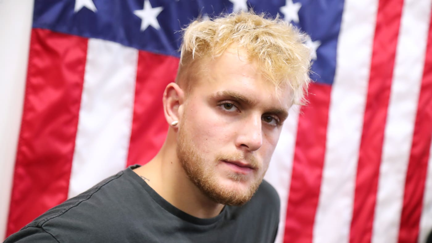 Jake Paul attends Logan Paul Workout Showcase at Wild Card Boxing Club.
