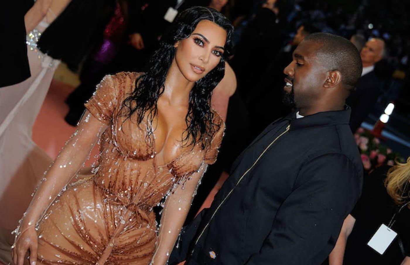 Kim Kardashian West and Kanye West attend The 2019 Met Gala Celebrating Camp.