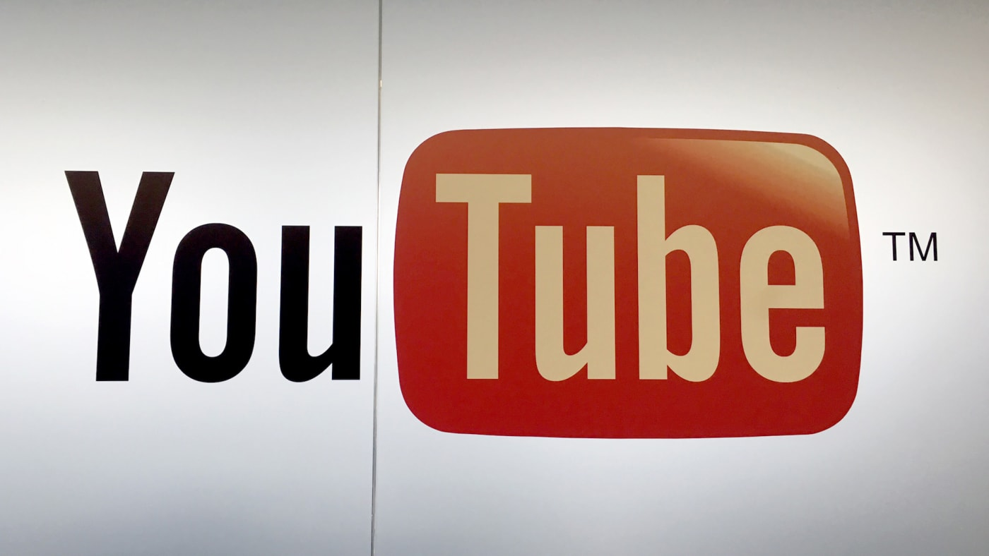 The logo of YouTube can be seen at the Google offices in Zurich, Switzerland.