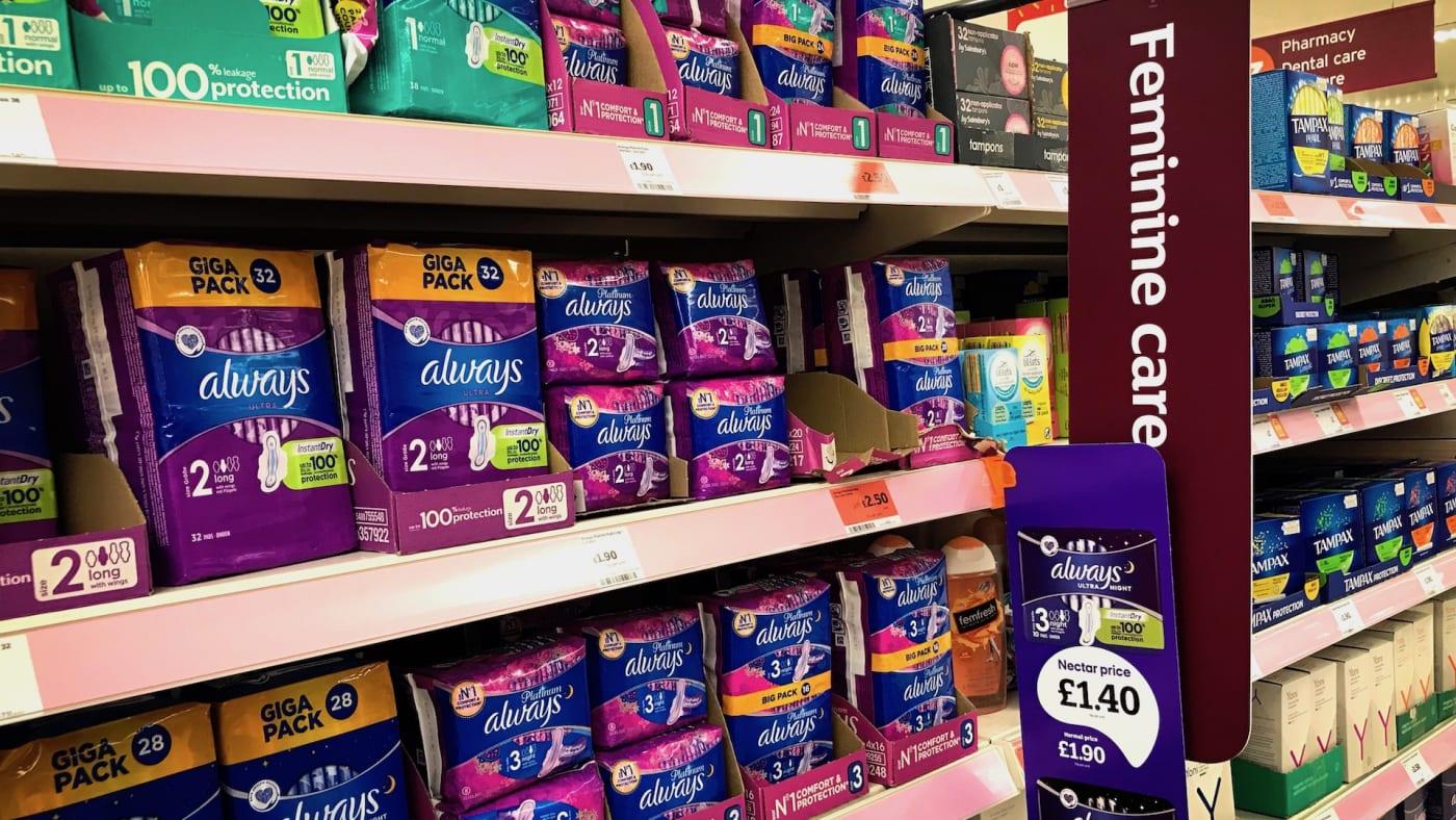Feminine care shelf