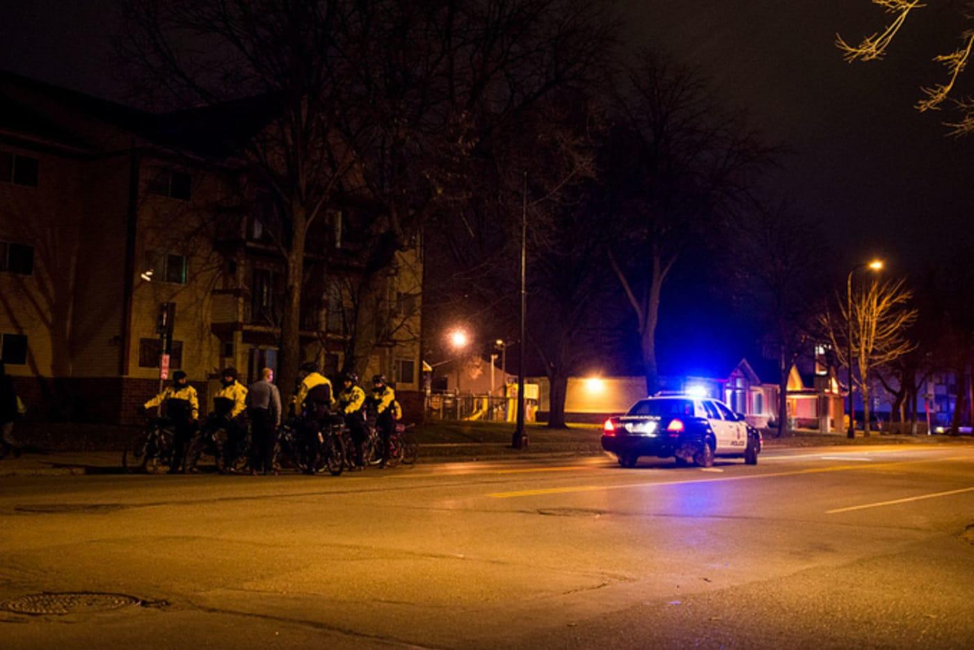 Police in North Minneapolis, Minnesota.