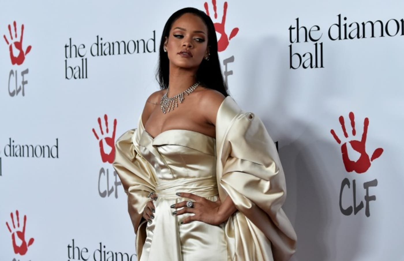 Rihanna at the second annual Diamond Ball.