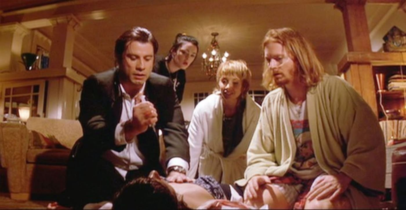 stabbing scene from Pulp Fiction