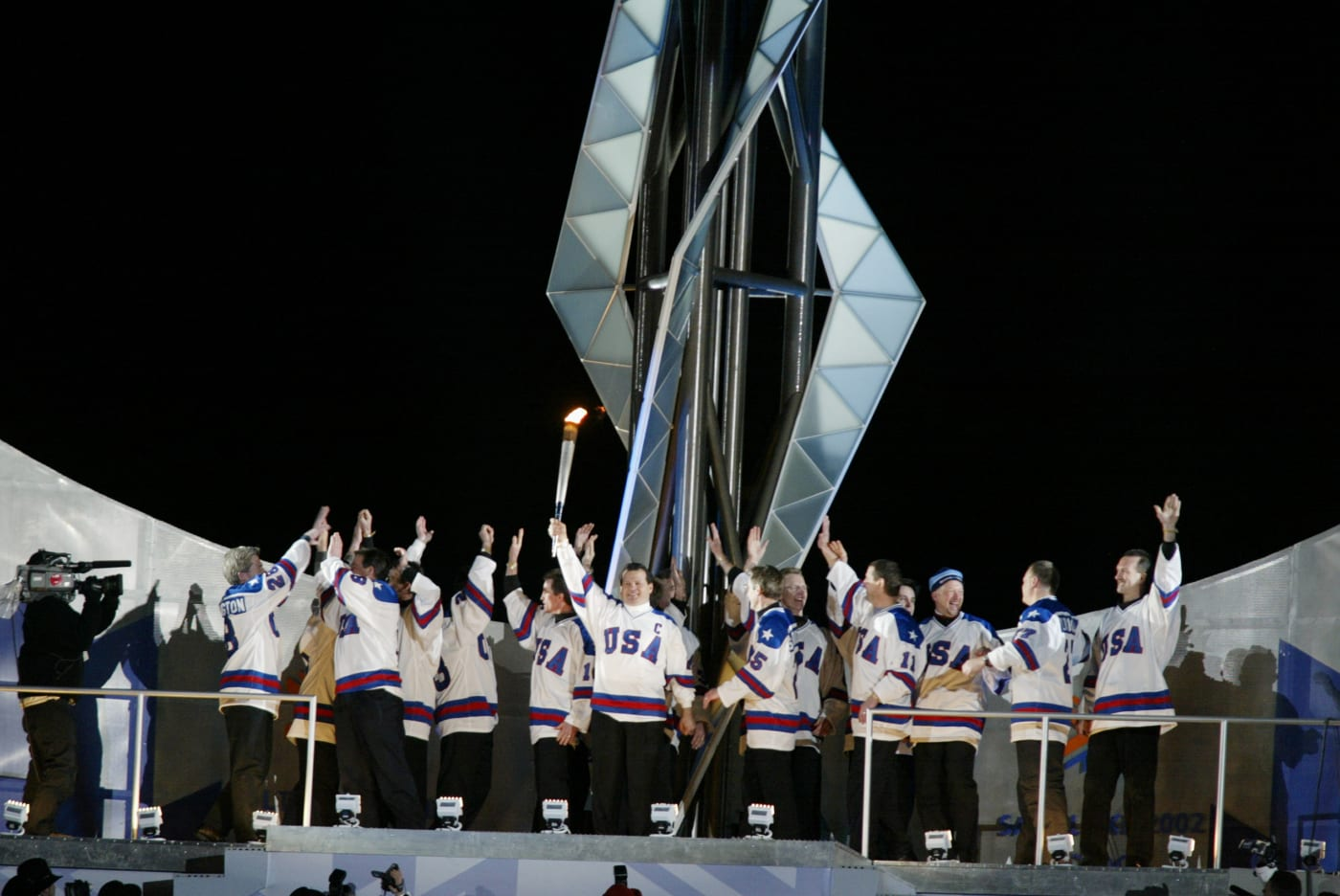 This is a photo of the Miracle on Ice USA Hockey Team