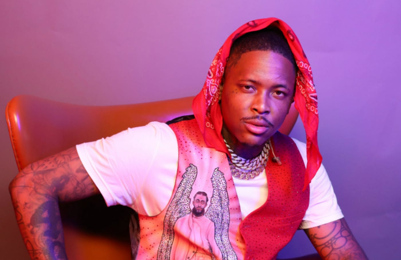 YG poses for a portrait during the BET Awards 2019