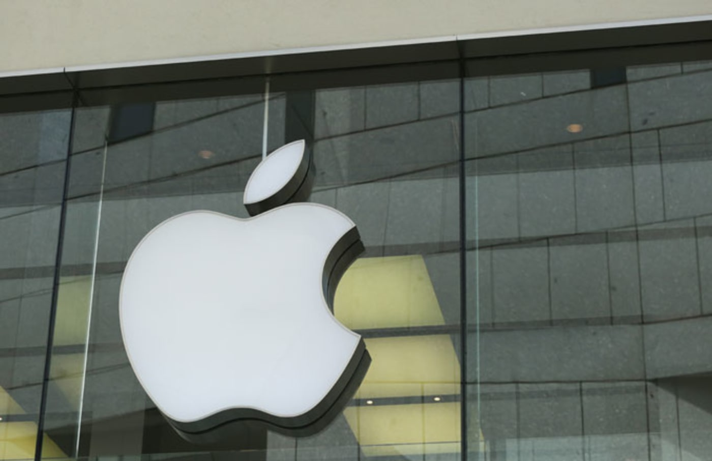 Apple logo at a store in Munich