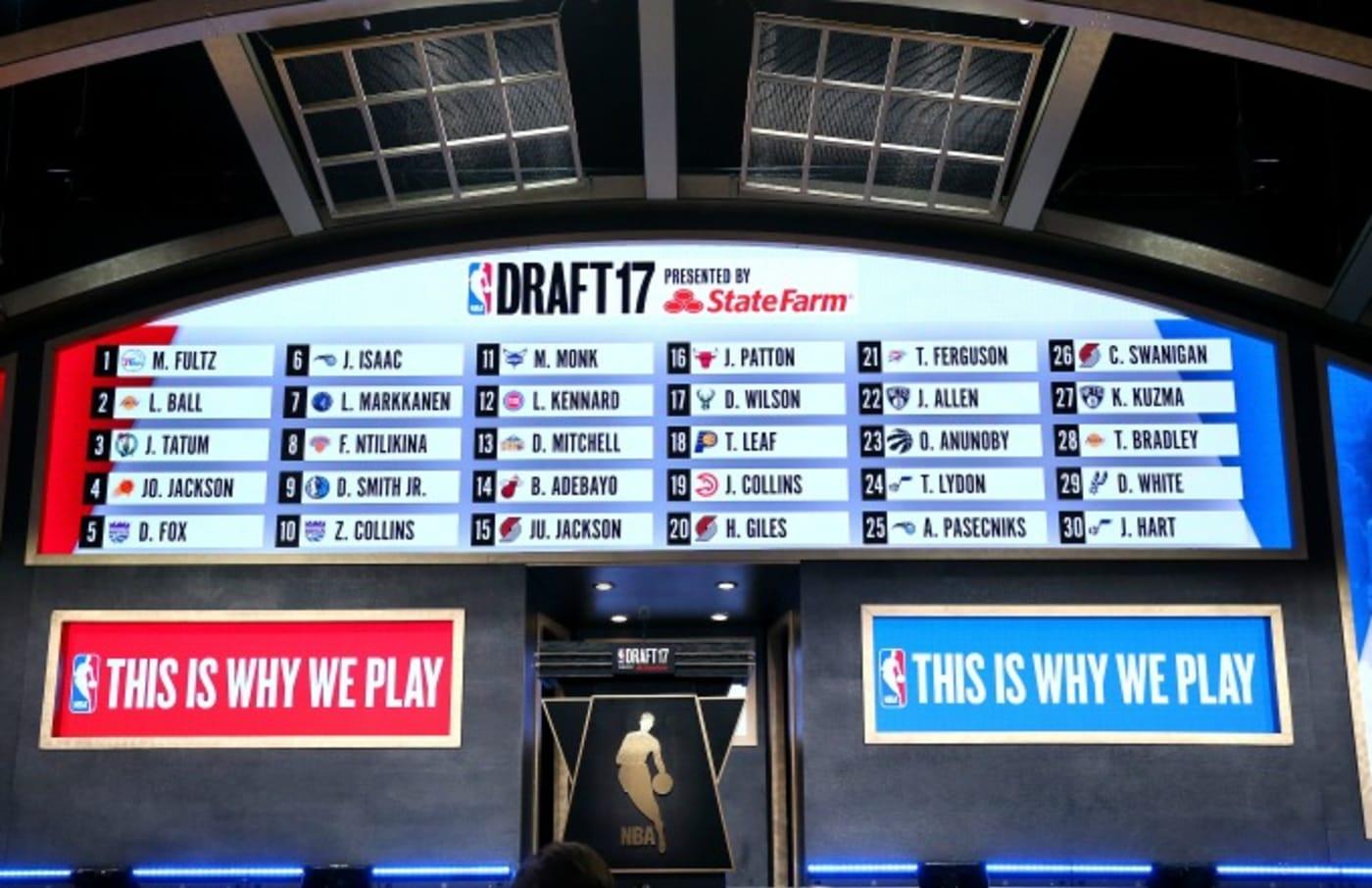 2017 NBA Draft board.