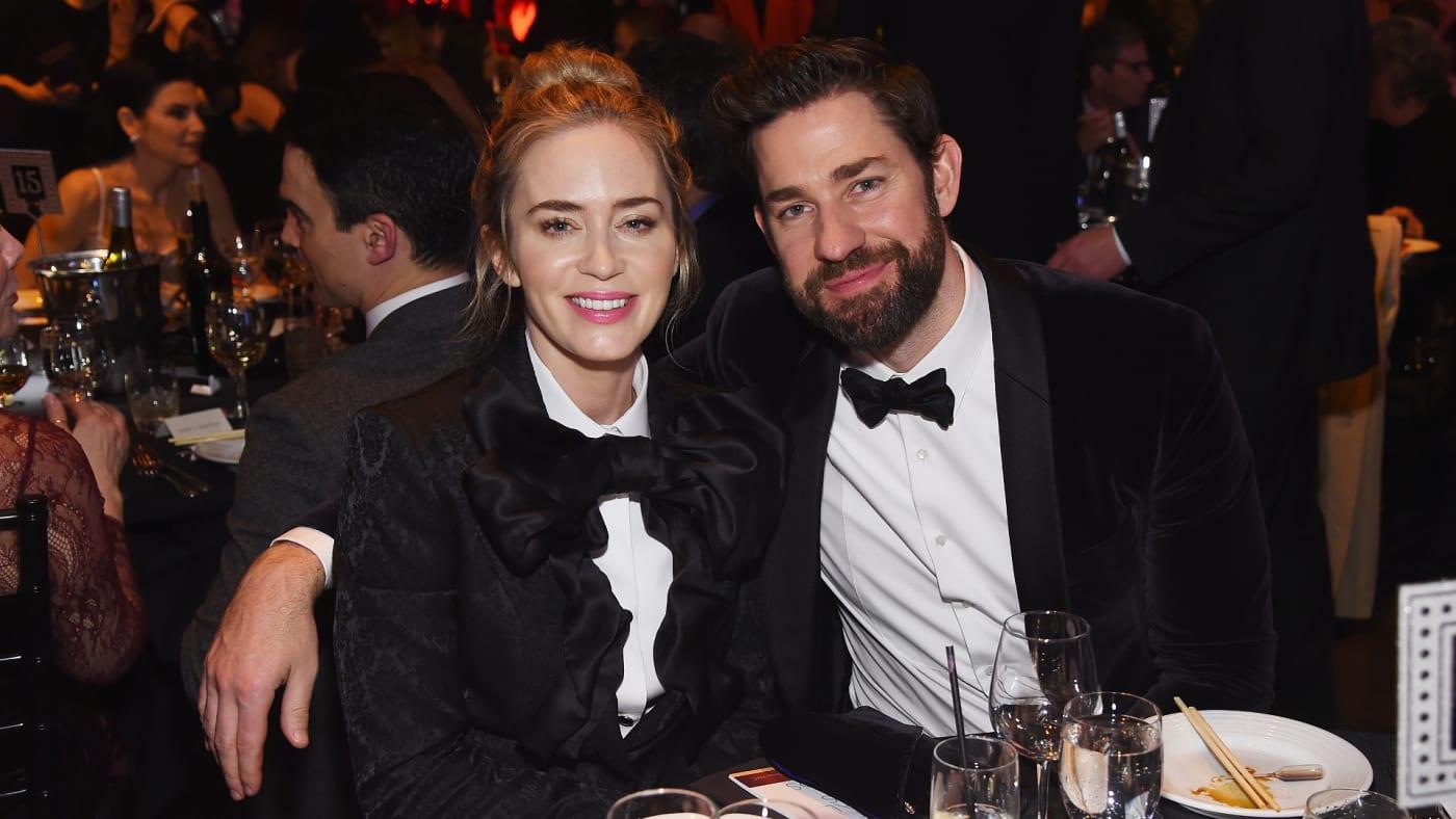 Emily Blunt and John Krasinski attend the 71st Annual Writers Guild Awards.