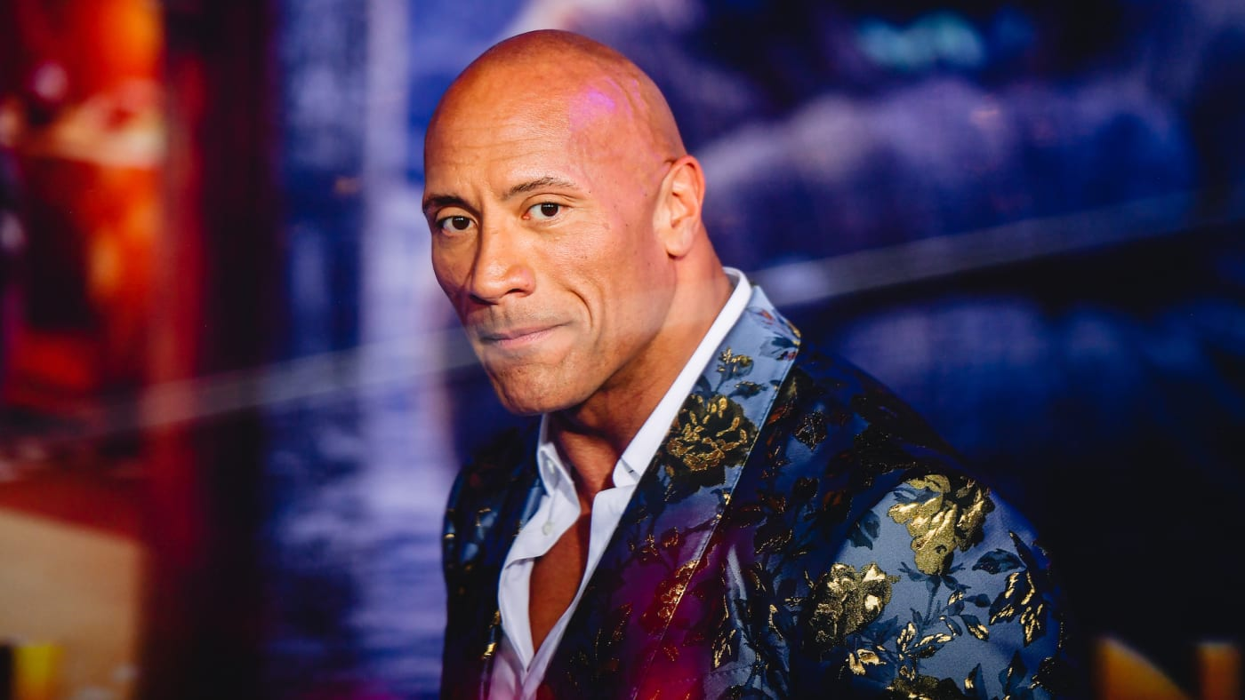 """Dwayne Johnson attends the premiere of Sony Pictures' """"Jumanji: The Next Level""""."""