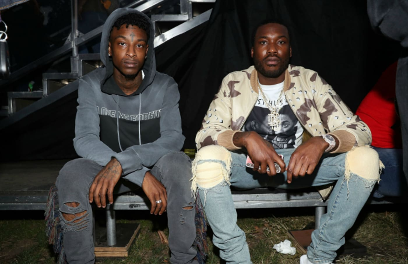 Meek Mill and 21 Savage at Made In America