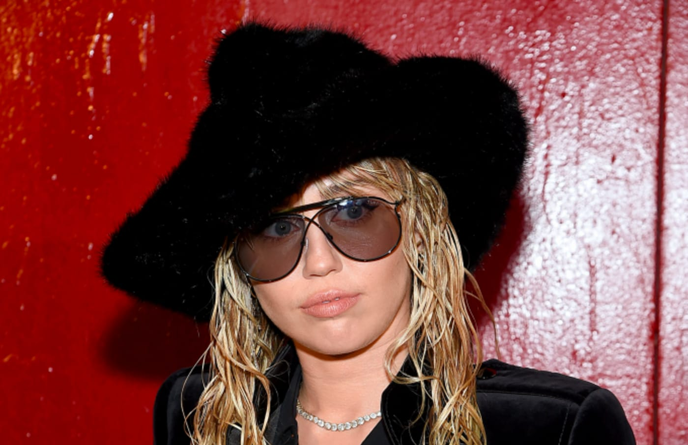 Miley Cyrus attends the Tom Ford arrivals during New York Fashion Week