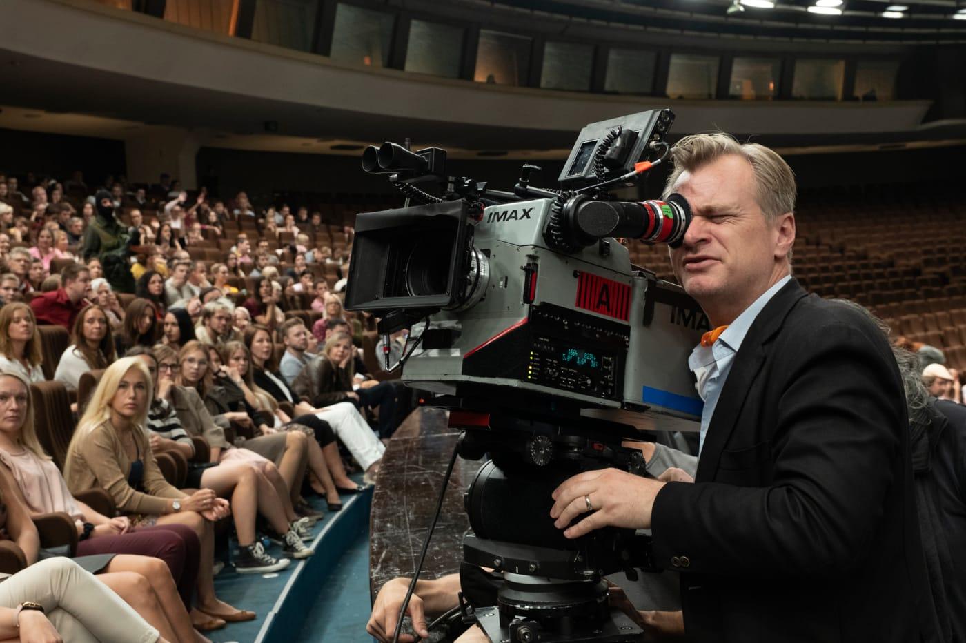 Christopher Nolan on the 'Tenet' set