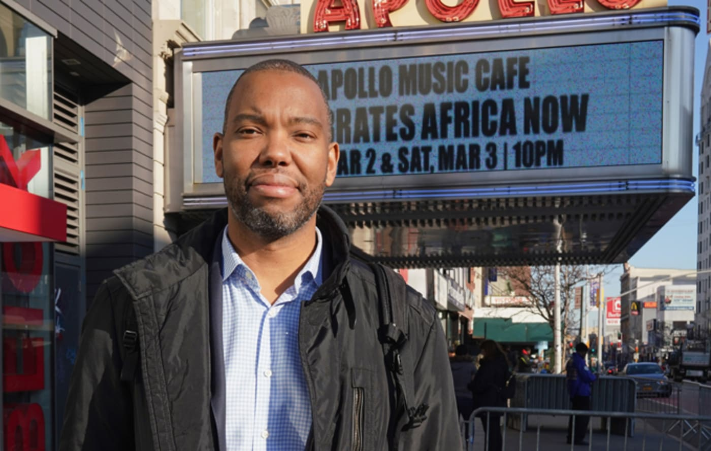 Ta Nehisi Coates poses at the 'Black Panther' Special Screening at Apollo Theater