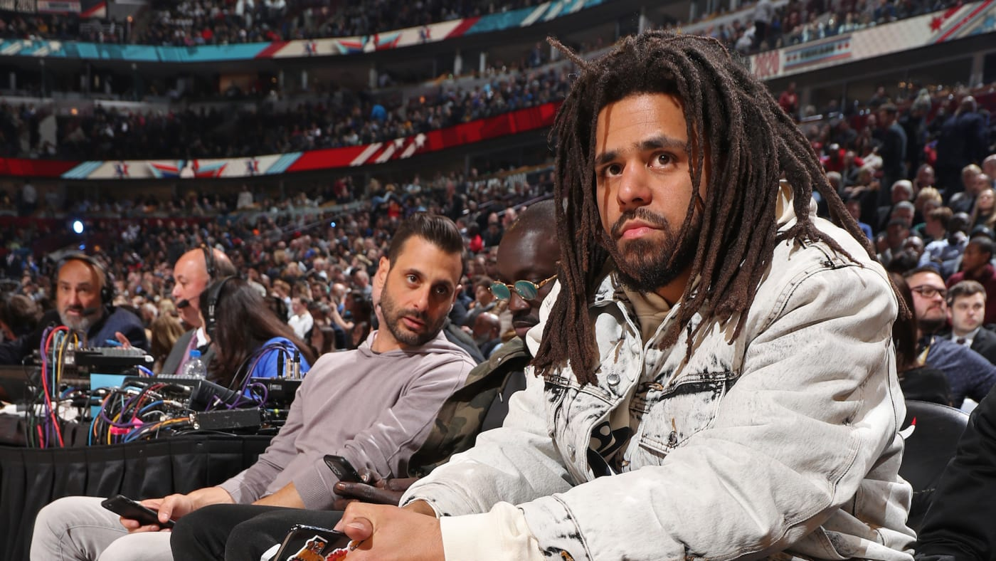 J. Cole attends the 69th NBA All-Star Game