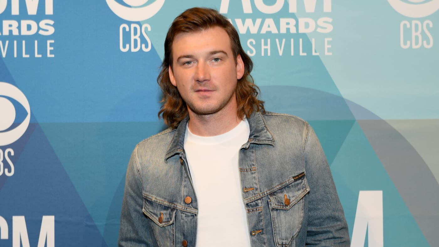 Morgan Wallen attends the 55th Academy of Country Music Awards.