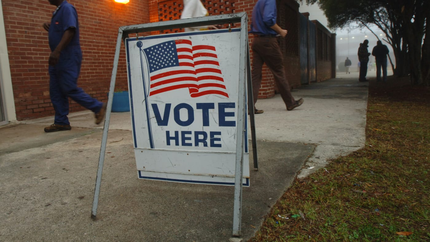 A polling place