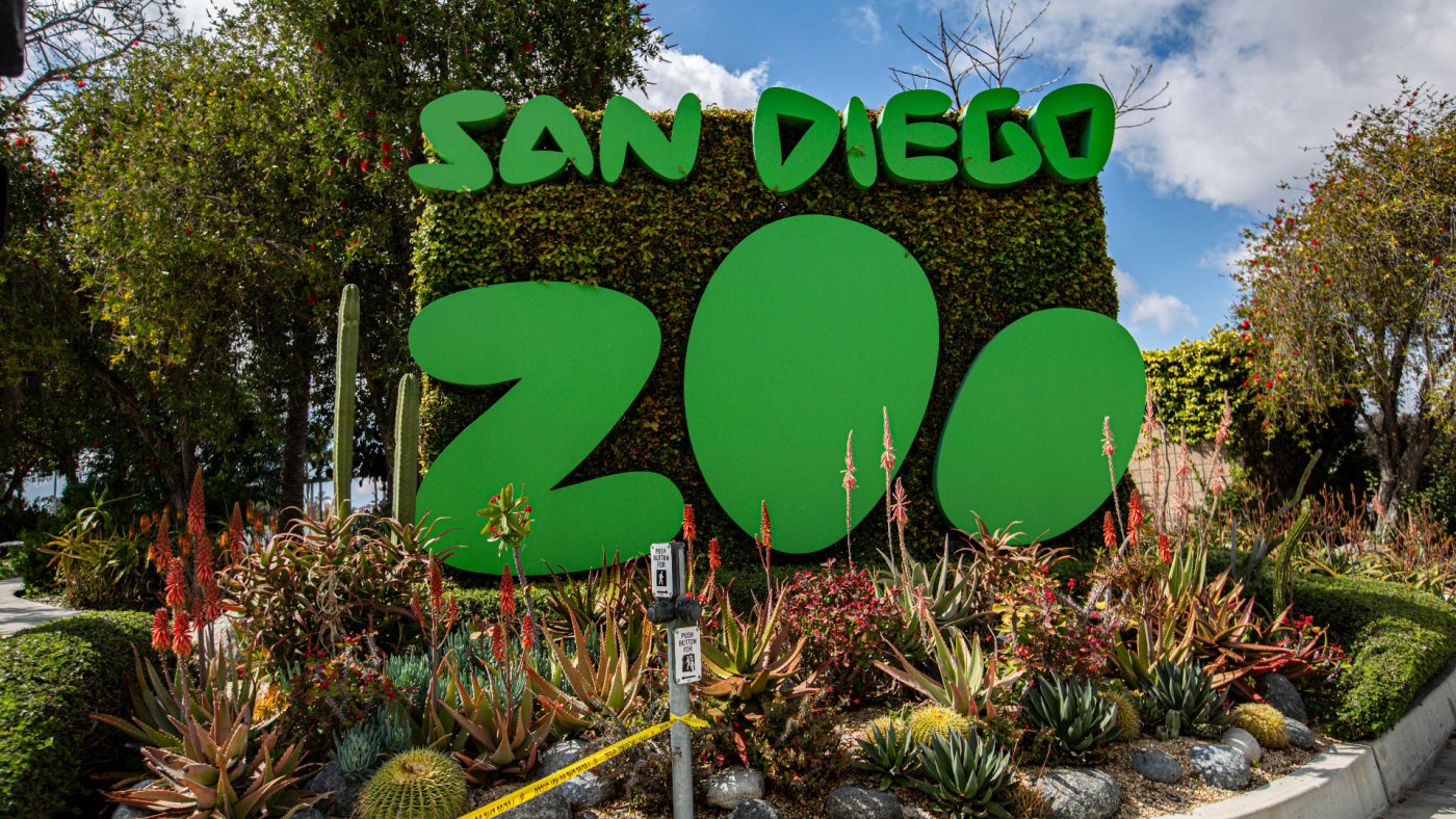 General view outside San Diego Zoo.