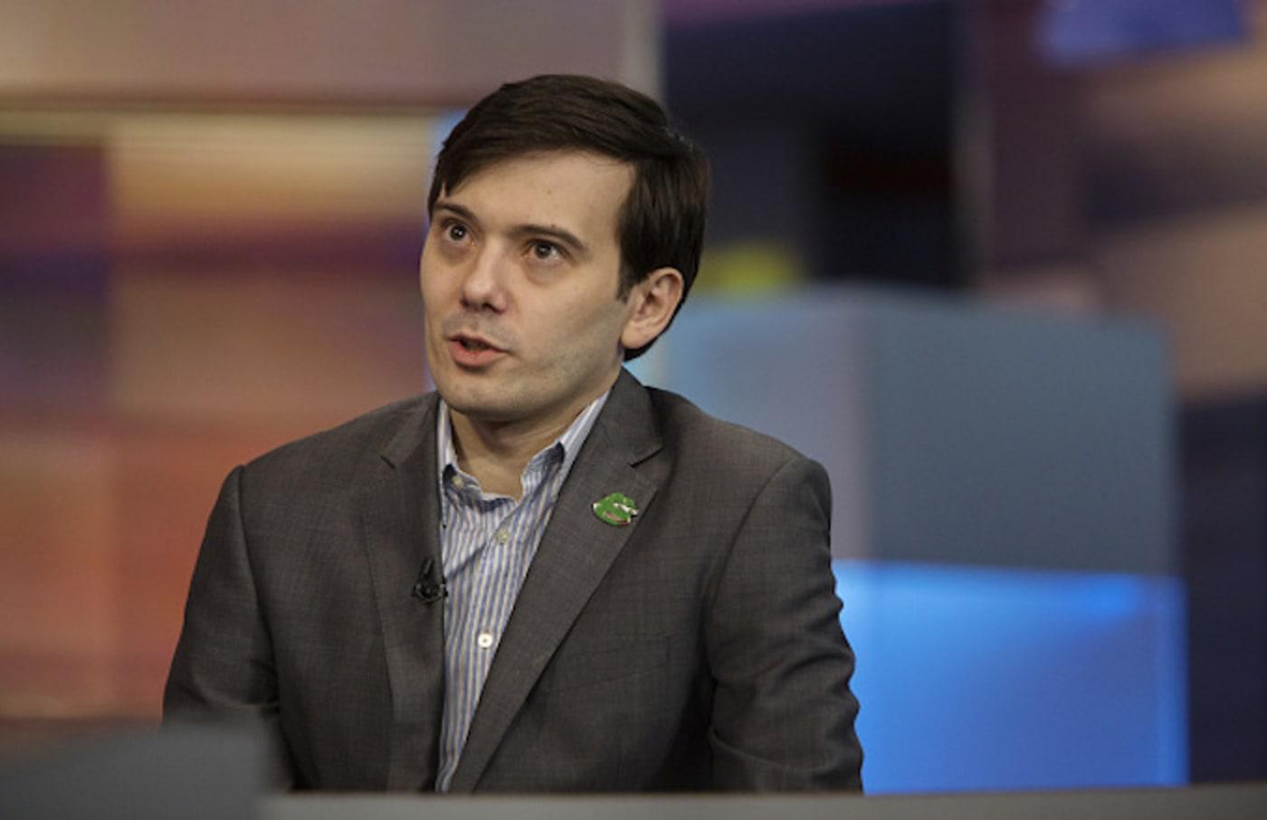 Martin Shkreli speaks during a Bloomberg Television
