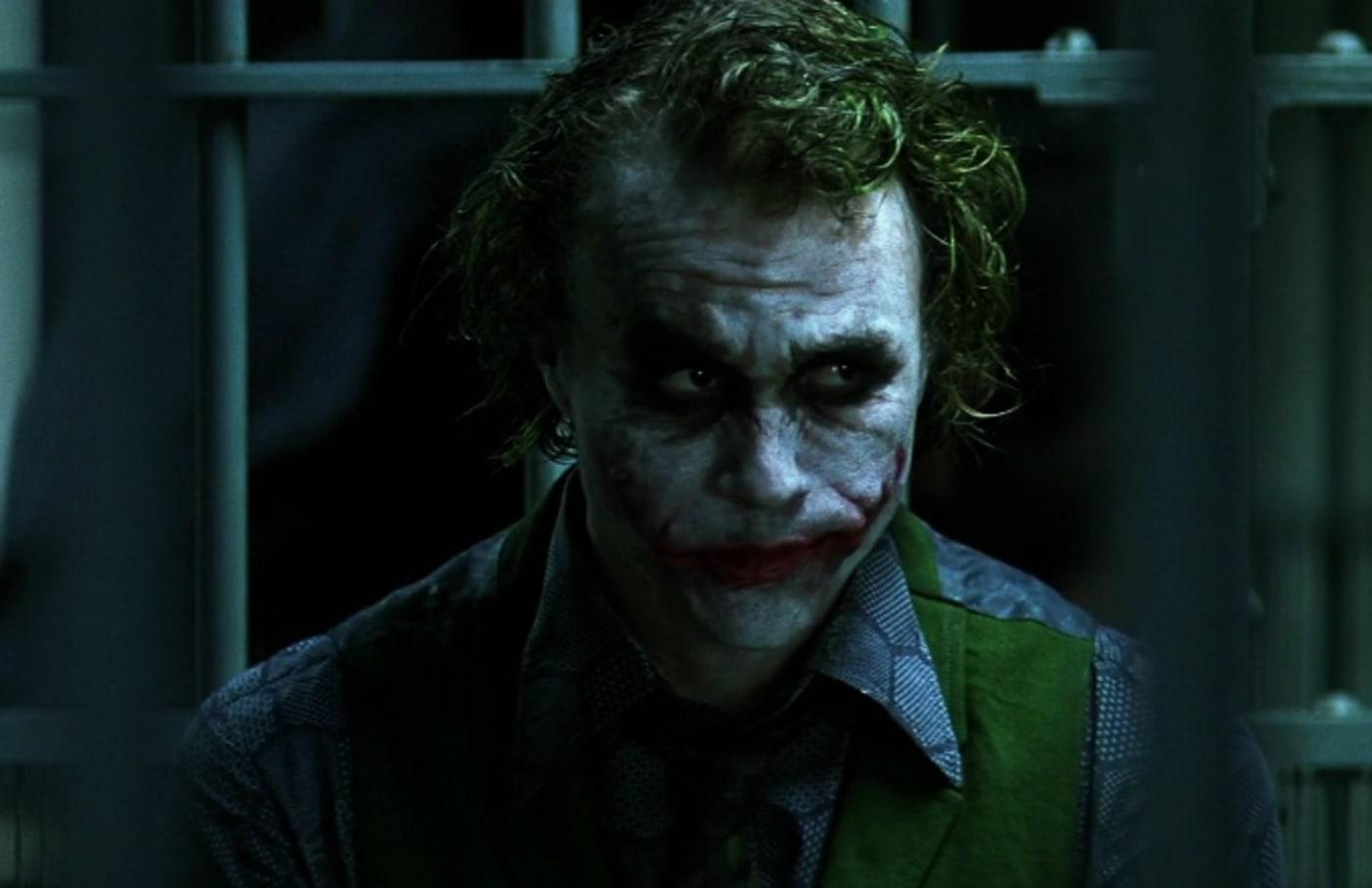 Heath Ledger as The Joker in 'The Dark Knight.'
