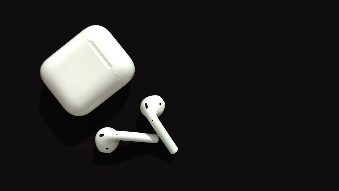 Product shot of Apple, Inc.s' AirPods