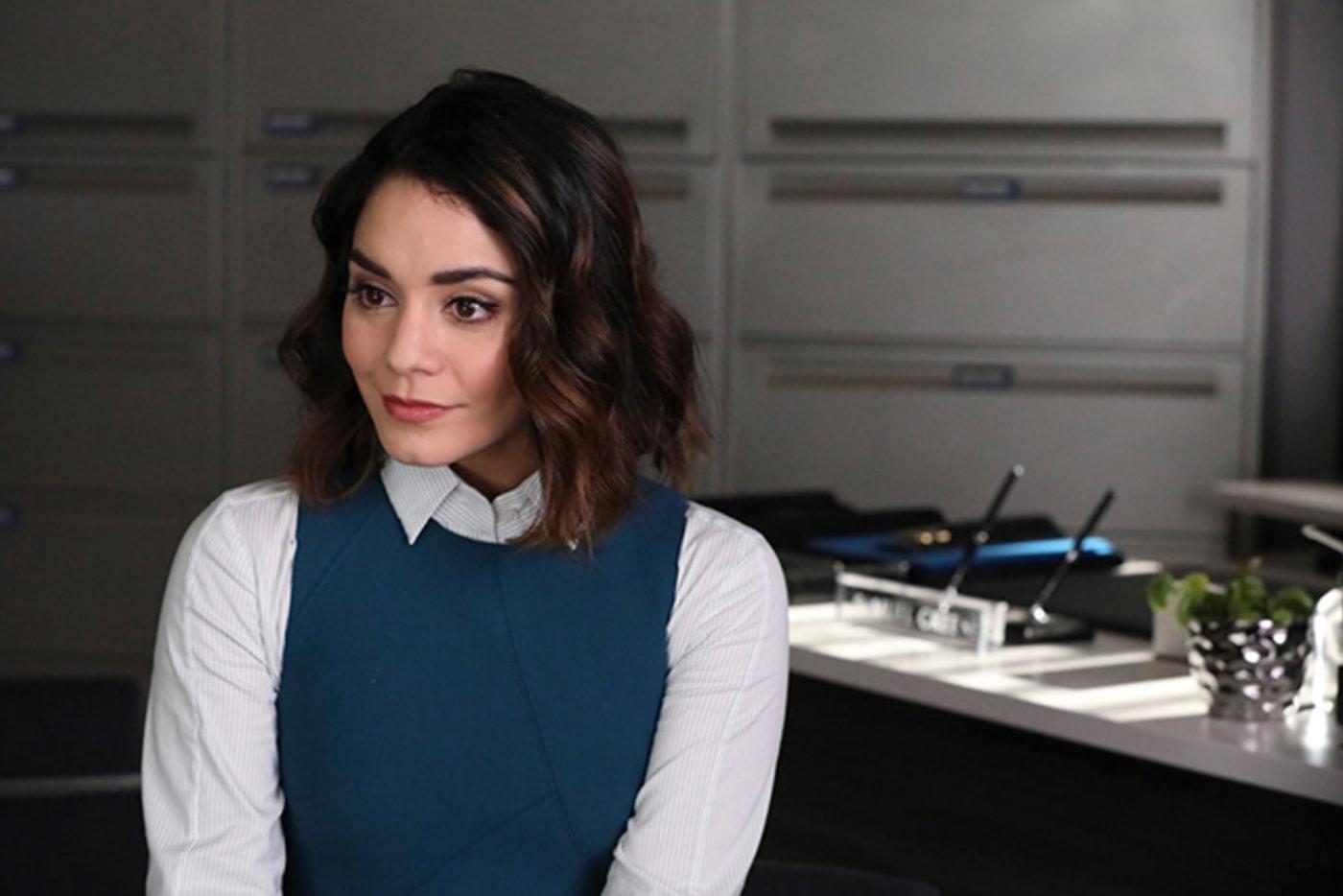 Vanessa Hudgens as Emily on NBC's 'Powerless'