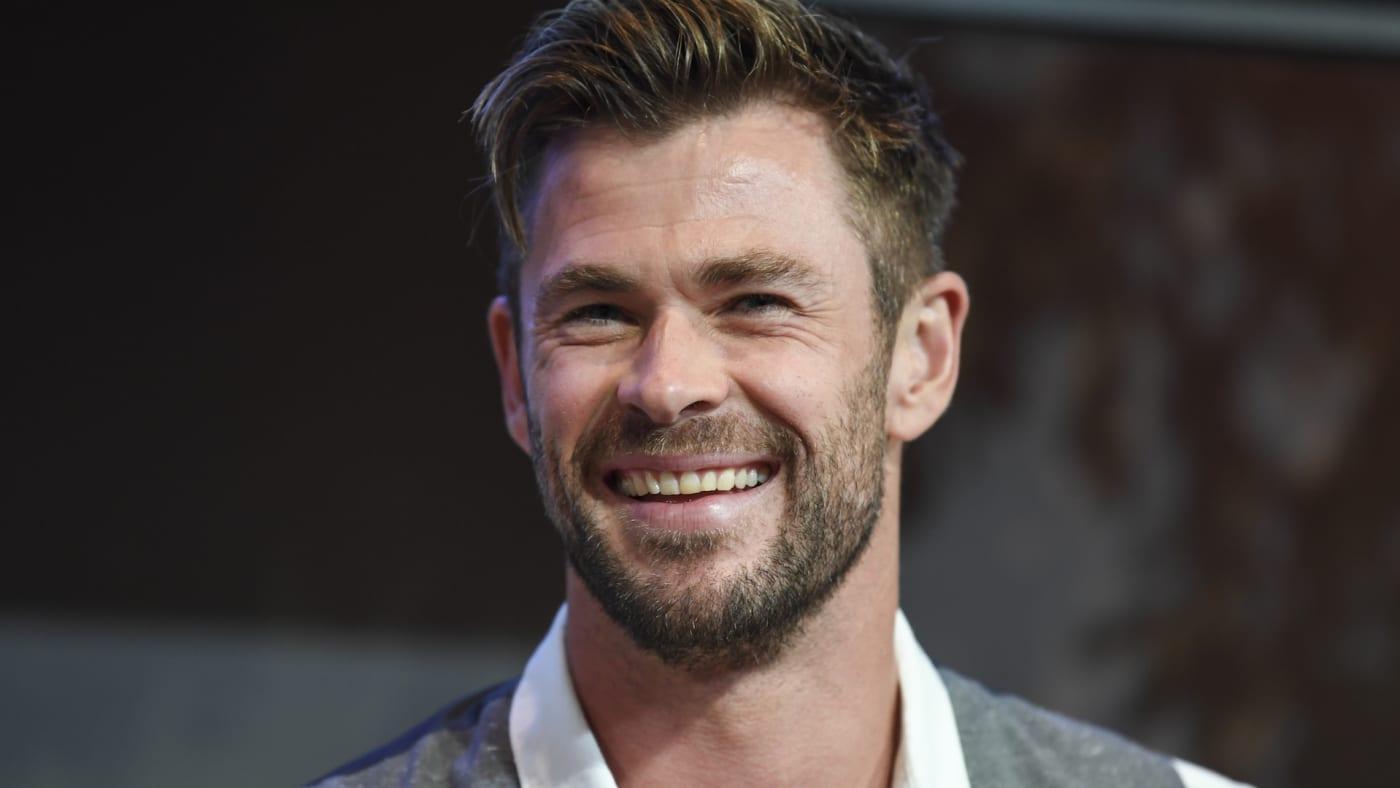 Actor Chris Hemsworth at the Sydney Opera House