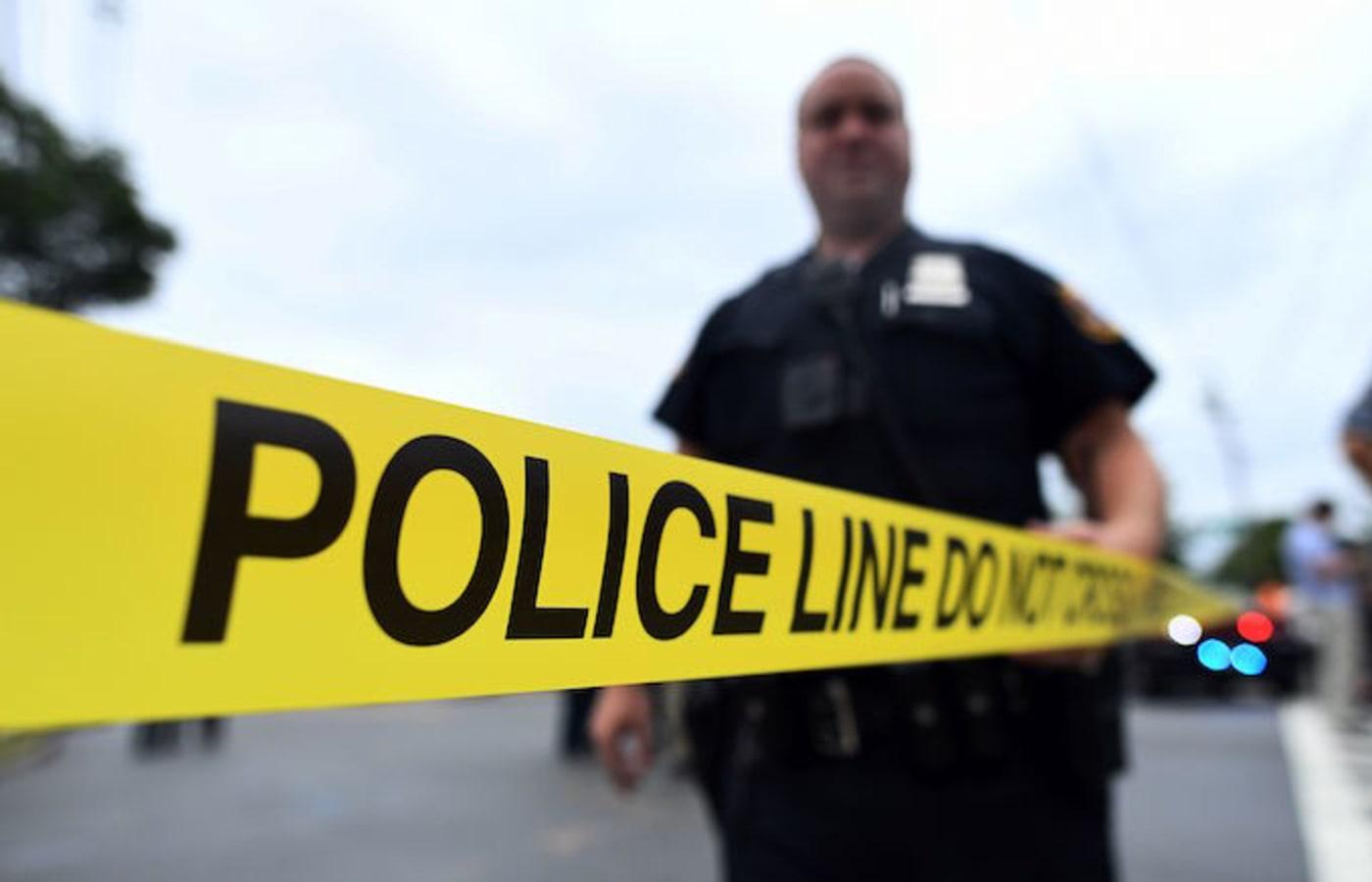 Tape at a police crime scene