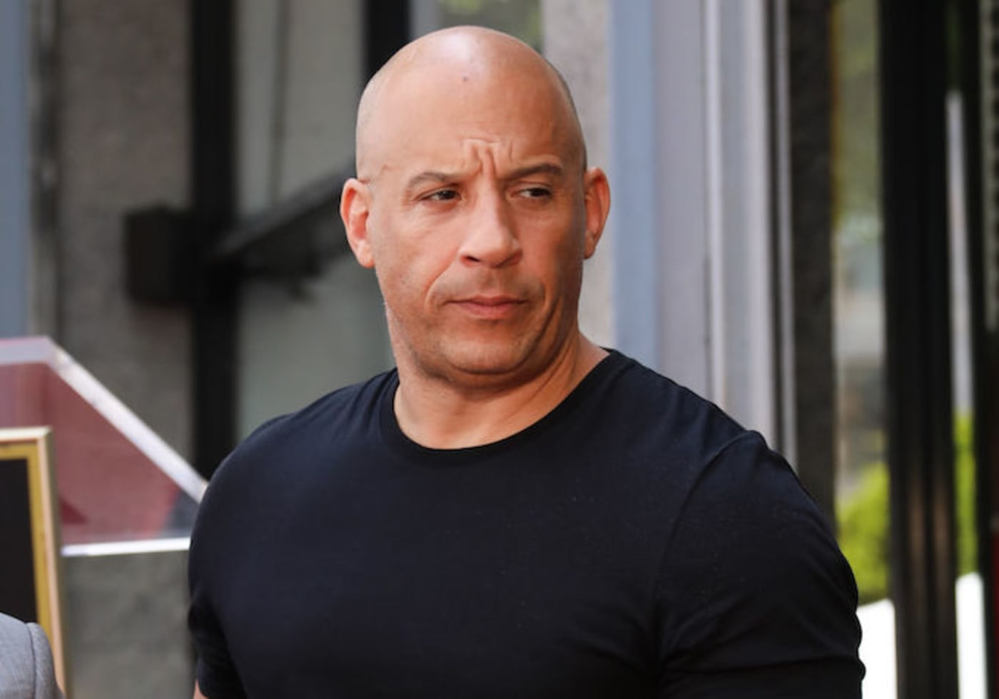 This is a picture of Vin Diesel.